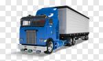 Сlipart Truck Semi-Truck Vehicle Trailer Isolated Freight Transportation 3d cut out BillionPhotos