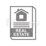 Сlipart Real Estate Mortgage Document rent For Sale Apartment vector icon cut out BillionPhotos