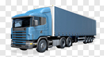 Сlipart Truck Transportation Freight Transportation Semi-Truck Delivering 3d cut out BillionPhotos