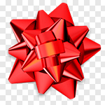Сlipart Christmas Bow Bow Gift Ribbon 3d cut out BillionPhotos
