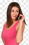 Сlipart Airport Business Travel Mobile Phone Women Travel photo cut out BillionPhotos