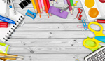 Сlipart school accessories color background closeup document   BillionPhotos