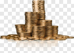 Сlipart Coin Currency Gold Stack Wealth photo cut out BillionPhotos