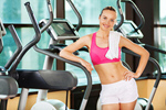 Сlipart Woman in a fitness club gym workout interior club photo  BillionPhotos