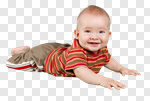 Сlipart Baby Crawling Babies Only Isolated Cheerful photo cut out BillionPhotos