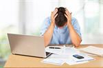 Сlipart Debt Emotional Stress Finance Problems Worried   BillionPhotos