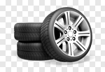 Сlipart Tire Car Wheel Stack Three-dimensional Shape 3d cut out BillionPhotos