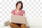 Сlipart laptop woman home portrait young photo cut out BillionPhotos