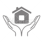 Сlipart Offer Selling For Sale House Human Hands vector icon cut out BillionPhotos