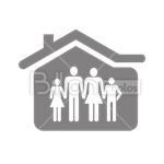 Сlipart House Family Family House Roof Apartment vector icon cut out BillionPhotos