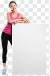 Сlipart fit fitness women blank billboard photo cut out BillionPhotos