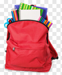 Сlipart schoolbag with supplies school back bag backpack photo cut out BillionPhotos