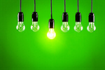 Сlipart idea concept electricity lightbulb green photo  BillionPhotos
