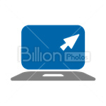 Сlipart Laptop Notebook Computer Screen Arrow vector icon cut out BillionPhotos