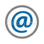 Сlipart At At sign Mail Email E-mail vector icon cut out BillionPhotos