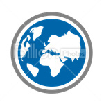 Сlipart Earth Globe World Planet Geography vector icon cut out BillionPhotos