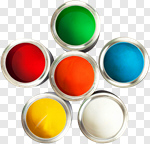 Сlipart Color Wheel Paint Can Paint Printing Press Can photo cut out BillionPhotos