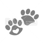 Сlipart Paw Footprint Animal Foot vector icon cut out BillionPhotos