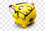 Сlipart Piggy Bank Glasses Intelligence Eyesight Business photo cut out BillionPhotos