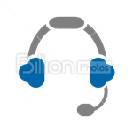 Сlipart Headphones Music Listening Sound Audio Equipment vector icon cut out BillionPhotos