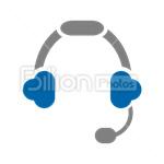 Сlipart Headphones Music Listening Sound Audio Equipment vector icon cut out BillionPhotos