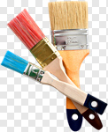 Сlipart Paintbrush Isolated Wood In A Row Handle photo cut out BillionPhotos