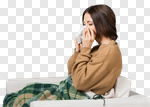 Сlipart flu cold woman cough bed photo cut out BillionPhotos