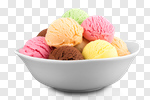 Сlipart ice cream bowl dessert white photo cut out BillionPhotos