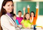 Сlipart teacher school smiling desk blonde   BillionPhotos