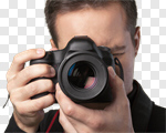 Сlipart Photographer Camera Lens Focus Photo Shoot photo cut out BillionPhotos