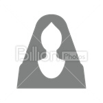 Сlipart Avatar Icon silhouette Female User vector icon cut out BillionPhotos