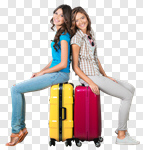 Сlipart Airport Travel Luggage Women Suitcase photo cut out BillionPhotos