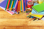 Сlipart school crayons white collage template   BillionPhotos