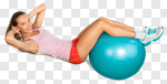 Сlipart Fitness Ball Relaxation Exercise Sit-ups Exercising Ball photo cut out BillionPhotos