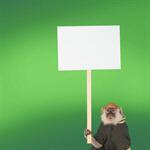 Сlipart Monkey Sign Holding Animal Protest   BillionPhotos