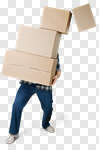 Сlipart Moving House Box Physical Activity Carrying Falling photo cut out BillionPhotos