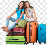 Сlipart Airport Travel Luggage Women Suitcase photo cut out BillionPhotos