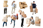Сlipart Group of people with box Box Moving House Moving Office Physical Activity   BillionPhotos