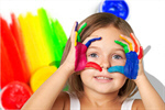 Сlipart child with painted hands talent kid dirty preschooler   BillionPhotos