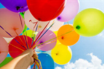 Сlipart balloon sky confetti multicolored blue photo  BillionPhotos