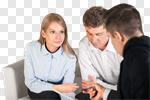 Сlipart Finance Advice Financial Advisor Insurance Discussion photo cut out BillionPhotos