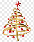 Сlipart Christmas Christmas Tree Christmas Decoration Christmas Ornament Tree 3d cut out BillionPhotos