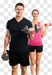 Сlipart trainer personal white woman gym photo cut out BillionPhotos