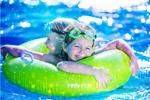 Сlipart Kids in pool water park slide aquapark   BillionPhotos