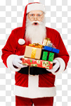 Сlipart Santa Claus Christmas Finger on Lips Real People Candid photo cut out BillionPhotos