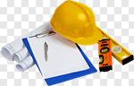 Сlipart Construction Hardhat Work Tool Helmet Hammer photo cut out BillionPhotos