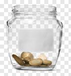 Сlipart Jar Coin Tip Empty Label photo cut out BillionPhotos