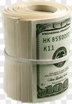 Сlipart Currency Money Roll Wealth One Hundred Dollar Bill Savings photo cut out BillionPhotos