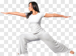 Сlipart practising meditation exercise yoga pose photo cut out BillionPhotos