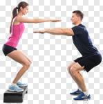 Сlipart squats trainer bosu sports workout photo cut out BillionPhotos